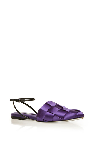 Medium marco de vincenzo purple purple woven flat
