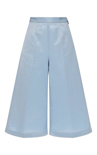 Medium msgm light blue light blue faille cropped trousers