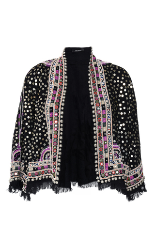 Medium isabel marant black baikal sequined jacket