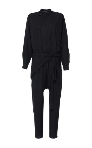 Medium isabel marant black coated poplin meery jumpsuit