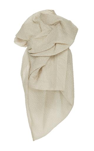 Medium rick owens ivory galle rouched asymmetric vest