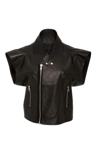 Medium rick owens black cyclo biker leather vest