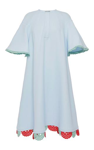 Oversized Flouncy Sleeved Crochet Detail Dress by VIKA GAZINSKAYA Now Available on Moda Operandi