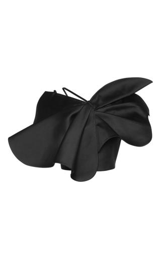 Medium vika gazinskaya black shoulder strap asymmetric flower print top