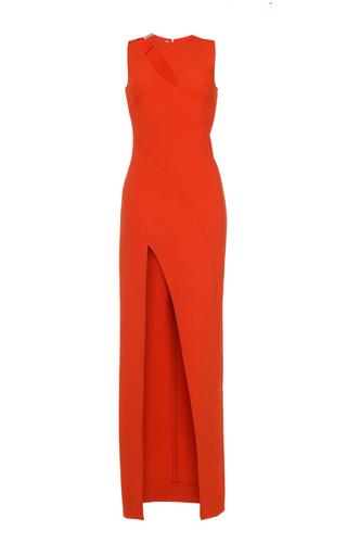 Medium mugler red asymmetrical cutout gown