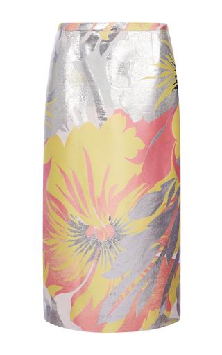 Cotton Silk Metallic Jacquard Skirt by ROCHAS Now Available on Moda Operandi