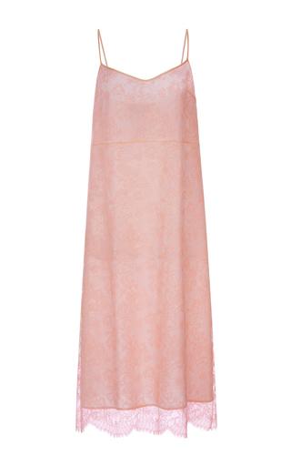Medium rochas orange pastel orange silk lace slip dress