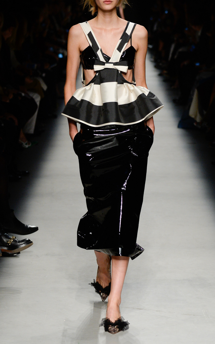 Black Patent Leather Pencil Skirt by Rochas | Moda Operandi