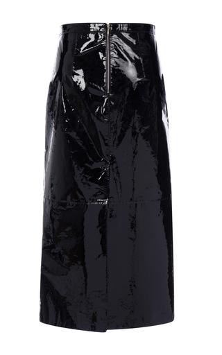 black patent leather pencil skirt by rochas moda operandi