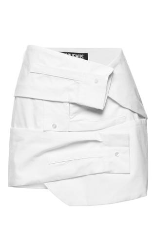Medium jacquemus white triple sleeve mini skirt