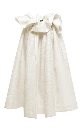 Medium ellery ivory ivory disheveled layered gauze impact apron skirt
