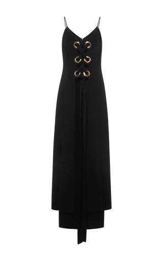 Medium ellery black delorean lace up dress