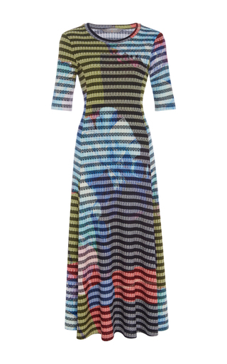 Urban Blooms Flared Dress by CLOVER CANYON Now Available on Moda Operandi