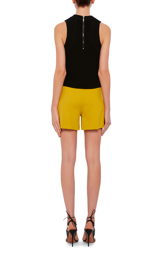 High Waisted Shorts With Floral Embellishments by CLOVER CANYON Now Available on Moda Operandi