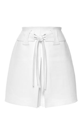 Medium giambattista valli white crisp cotton a line skirt