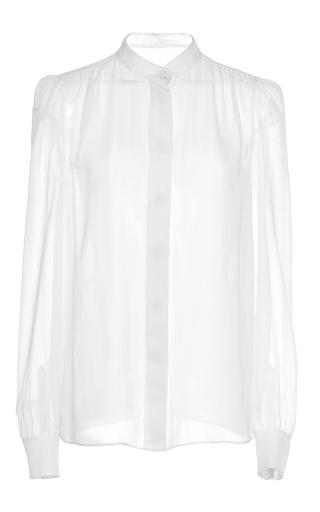Medium giambattista valli white white silk long sleeve blouse