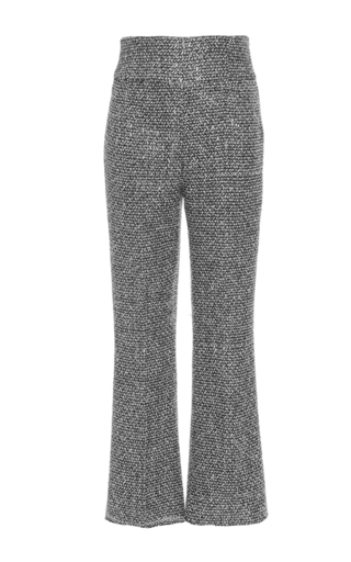 Medium giambattista valli black tweed slim pant