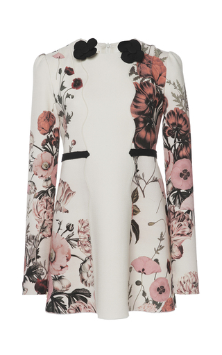 Medium giambattista valli white botanical floral crepe dress
