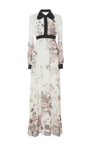 Medium giambattista valli white silk georgette long sleeve dress