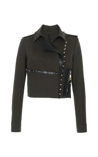 Medium anthony vaccarello khaki khaki studded combo jacket