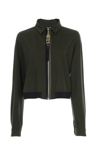 Medium anthony vaccarello khaki zip front shirt
