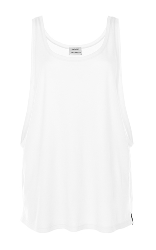 Medium anthony vaccarello white cotton tank