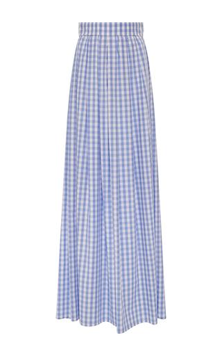 Medium vivetta light blue nicole cotton gingham maxi skirt