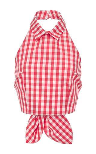 Medium vivetta red red gingham omar halter neck top
