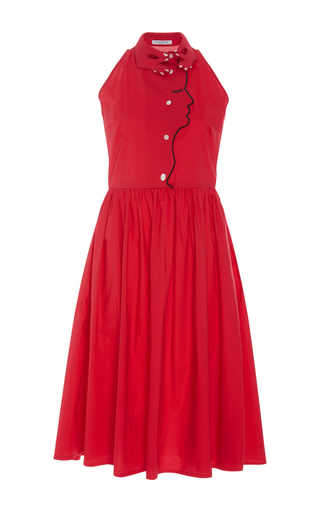 Medium vivetta red lilian cotton dress with hand and face detail