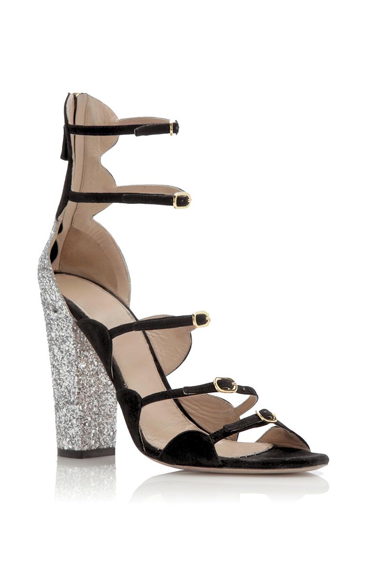 buy online 20860 59aa3 Glitter Block Heel Sandal
