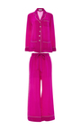 Gigi Silk Pajama Set  by OLIVIA VON HALLE Now Available on Moda Operandi