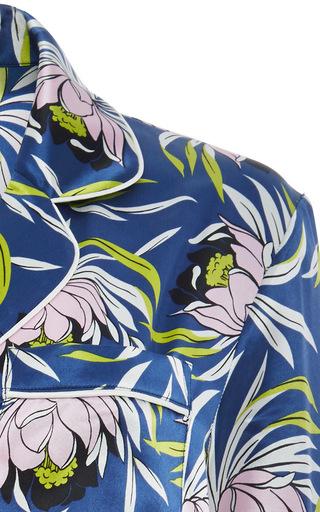 Lila Bardot Silk Printed Shirt And Pants Set by OLIVIA VON HALLE Now Available on Moda Operandi