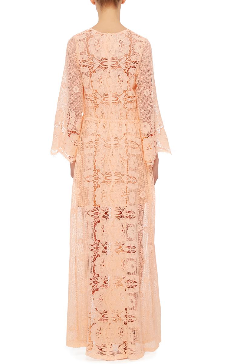Miguelina scallop lace maxi dress
