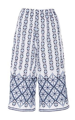 Medium miguelina multi yara rhombus embroidered culottes
