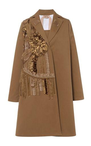 Medium no 21 brown embellished denim coat