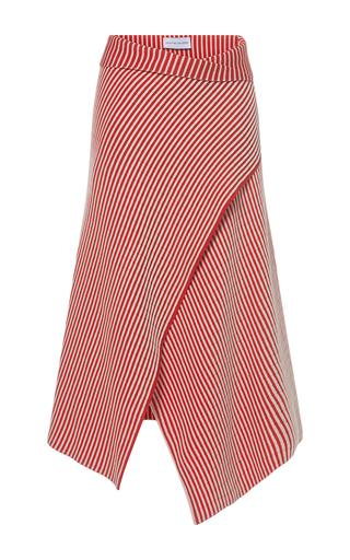 Medium jonathan saunders red faye skirt