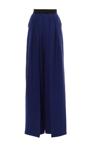 Medium martin grant navy pleated wide leg trouser