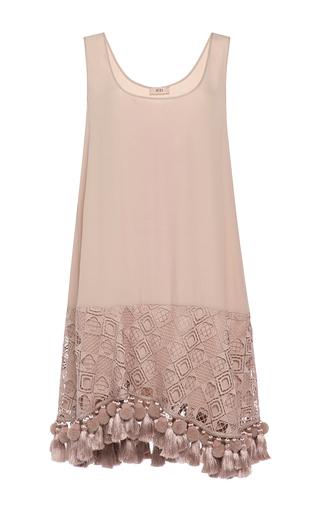 Medium no 21 light pink eyelet and tassel mini dress