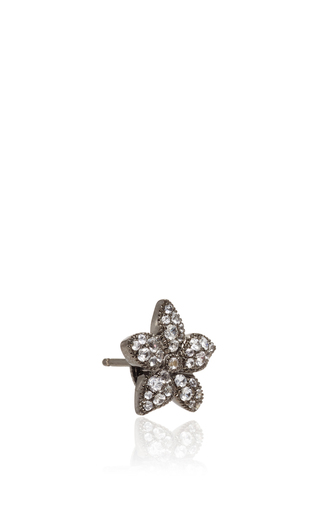 Diamond And Gold Floral Ear Cuff by RUNA Now Available on Moda Operandi