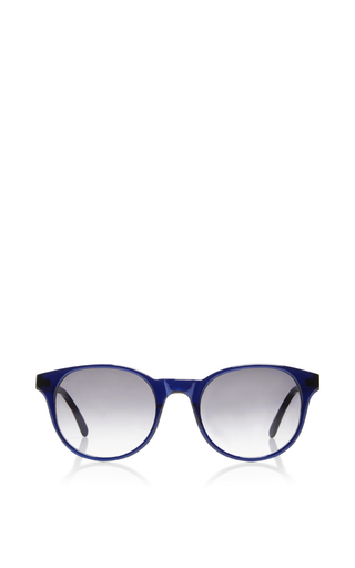 Medium prism navy paris circular oversized sunglasses
