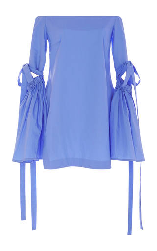 Medium ellery blue off the shoulder long bell sleeve cyril tunic top