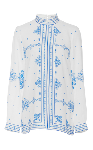 Medium vilshenko ivory angie long sleeve blouse