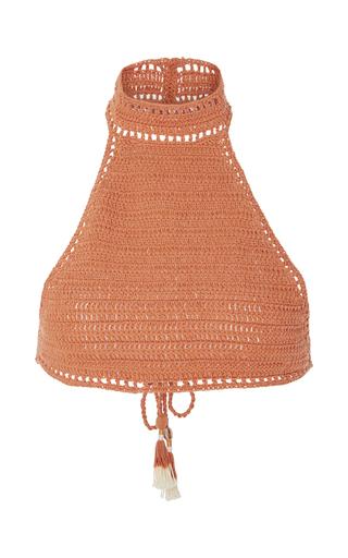 Medium she made me orange savarna crocheted halter bikini top