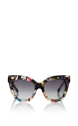 Medium linda farrow multi gloria garden printed cat eye sunglasses