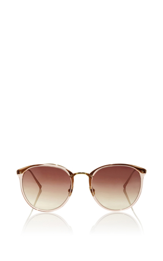 Medium linda farrow pink classic pink sunglasses with gradient lenses