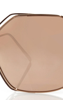 Rose Gold Plated Angular Aviators  by LINDA FARROW Now Available on Moda Operandi