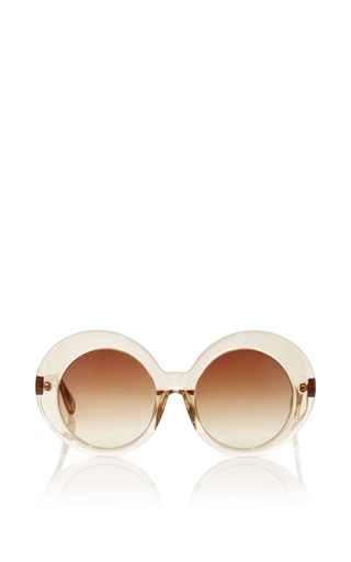 Medium linda farrow pink oversized round sunglasses
