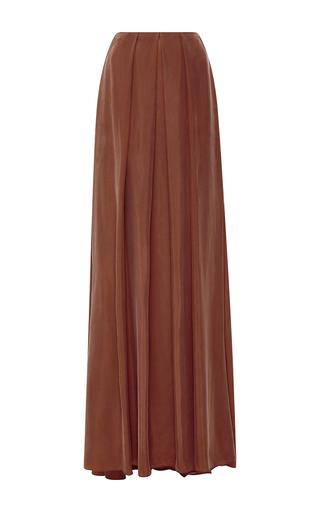 Medium hellessy orange neri pleated maxi skirt