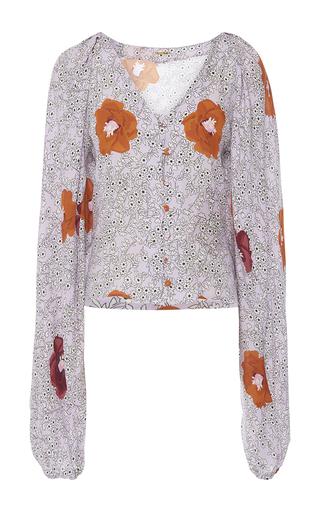 Medium johanna ortiz orange fortunata blouse