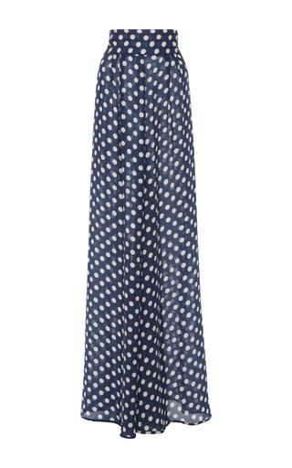 Medium johanna ortiz blue silk polka dot rayuela pants